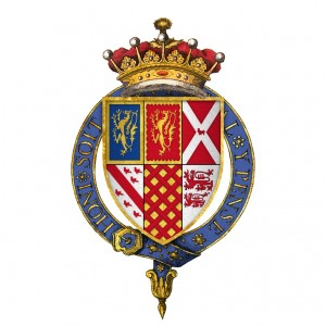 Arms of the fourth Earl of Shrewsbury, Mary Talbot's father
